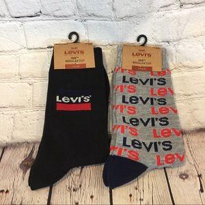 Set of 2 LEVI's 168ca Regular Cut Men's Crew Socks